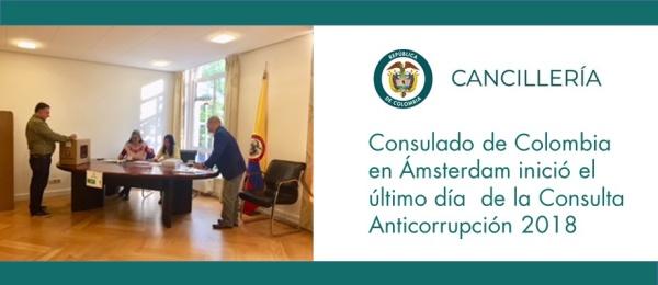 Consulado de Colombia en Ámsterdam inició el último día  de la Consulta Anticorrupción 2018