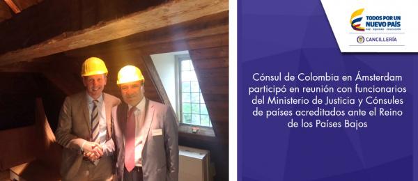 Cónsul de Colombia en Ámsterdam participó en reunión con funcionarios del Ministerio de Justicia y Cónsules de países acreditados ante el Reino de los Países Bajos