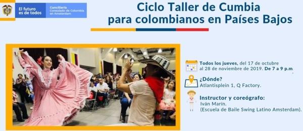 Consulado de Colombia en Ámsterdam invita al Ciclo Taller de Cumbia para colombianos