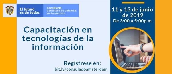Consulado de Colombia en Ámsterdam invita al taller sobre tecnologías de la información que realizará el Consulado