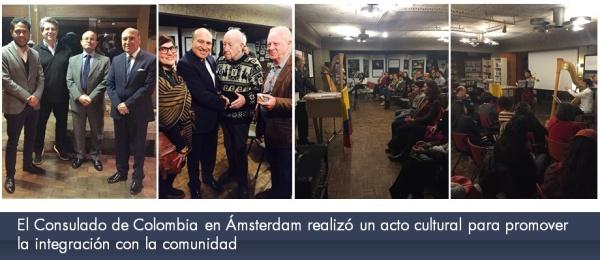 El Consulado de Colombia en Ámsterdam realizó un acto cultural para promover la integración