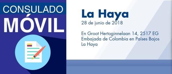 El Consulado de Colombia en Ámsterdam realizará una jornada móvil en La Haya el 28 de junio de 2018