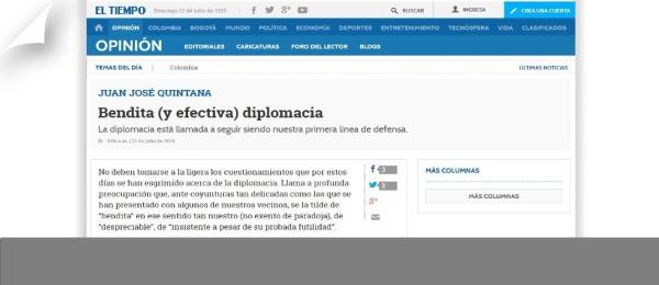 Columna Embajadores de Colombia en La Haya, Montevideo y Moscú